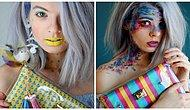 11 идей необычного макияжа в стиле яркой сумки