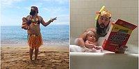 Этот папа делает веселые фото с маленькой дочкой, и весь интернет в восторге