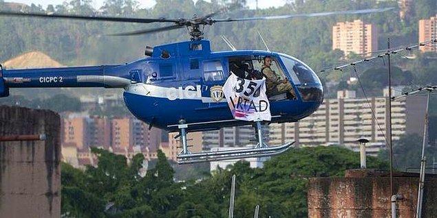Basına yansıyan bilgilere göre bir güvenlik görevlisi, polis helikopterini ele geçirip başkent üzerinde uçmaya başladı.