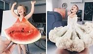 """Мама """"одевает"""" свою дочурку в цветы и еду, и она уже стала звездой интернета"""