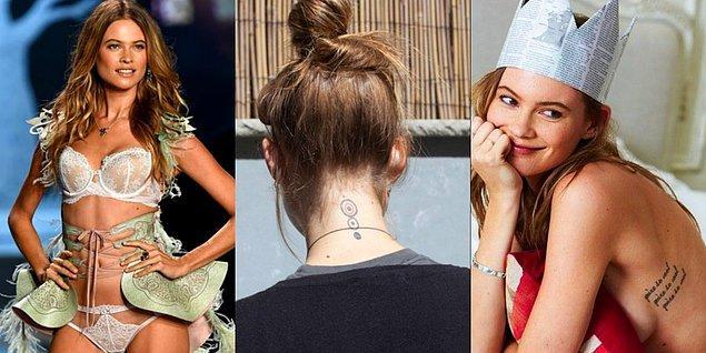 15. Adam Levine'ın biricik aşkı Behati Prinsloo ise tek dövmeyle yetinemeyenlerden!