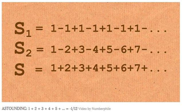 Yani, basit mantıkla 'pozitif sayıları toplarsam sonuç da pozitif çıkar' kabulünün işlemediği bir işlem örgüsü bu.
