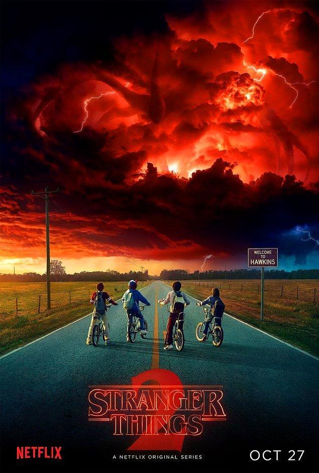 14. Stranger Things'in 2. sezonundan ilk poster geldi, çok daha iyi bir sezonun ayak sesleri bunlar...
