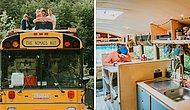Семейная пара превратила школьный автобус в хостел на колесах и путешествует по свету