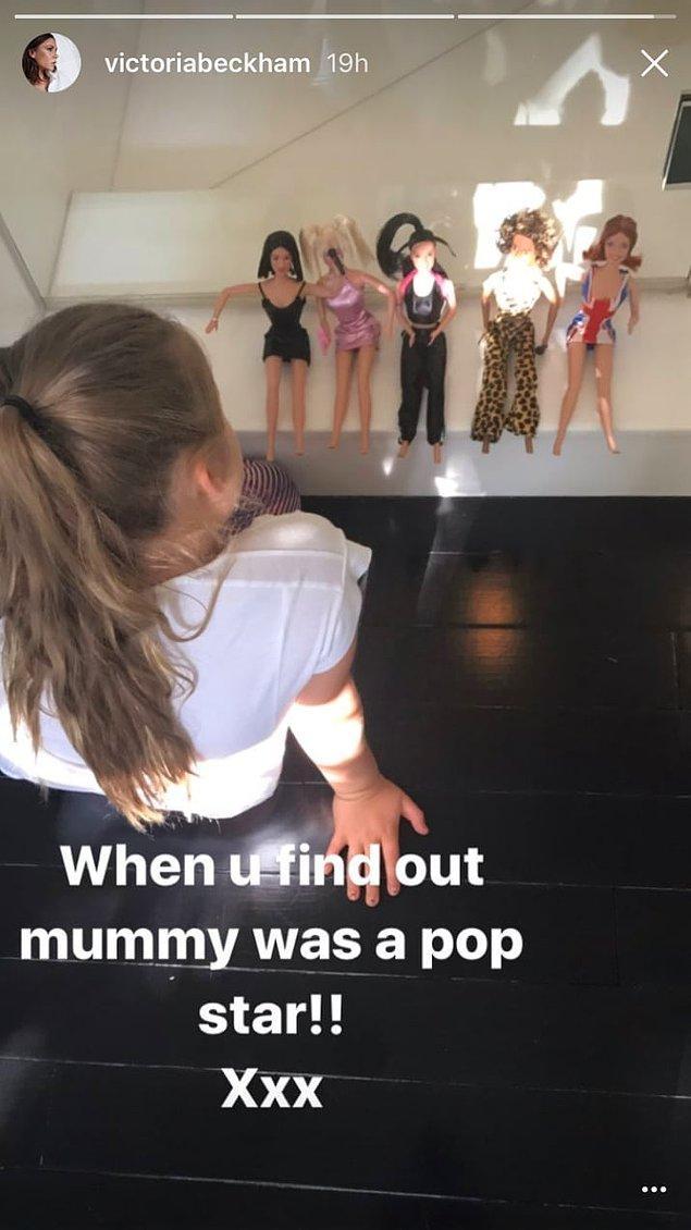 Harper sadece 6 yaşında bu yüzden annesini sadece bir moda tasarımcısı olarak tanıyor. Daha önce Spice Girls'ün adını bile duymadı muhtemelen!