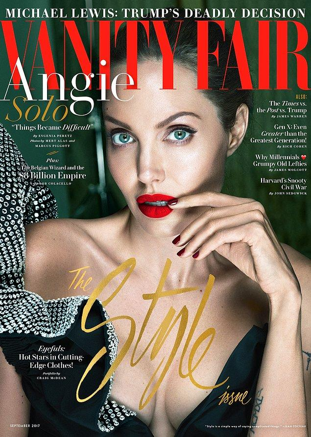 В интервью журналу Vanity Fair Анджелина откровенно рассказала о том, как она и ее 6 детей пытаются оправиться от произошедшего. Также актриса призналась, что только недавно взяла под контроль свое здоровье.
