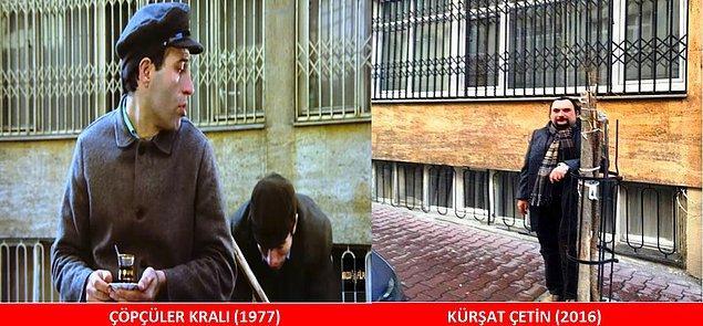 """4. ÇÖPÇÜLER KRALI (1977) Kapıcı Şemsi (İlyas Salman), Apti'nin çöp arabasını karıştırır. Apti kızar: """"KARIŞTIRMA LAN!!!!"""""""
