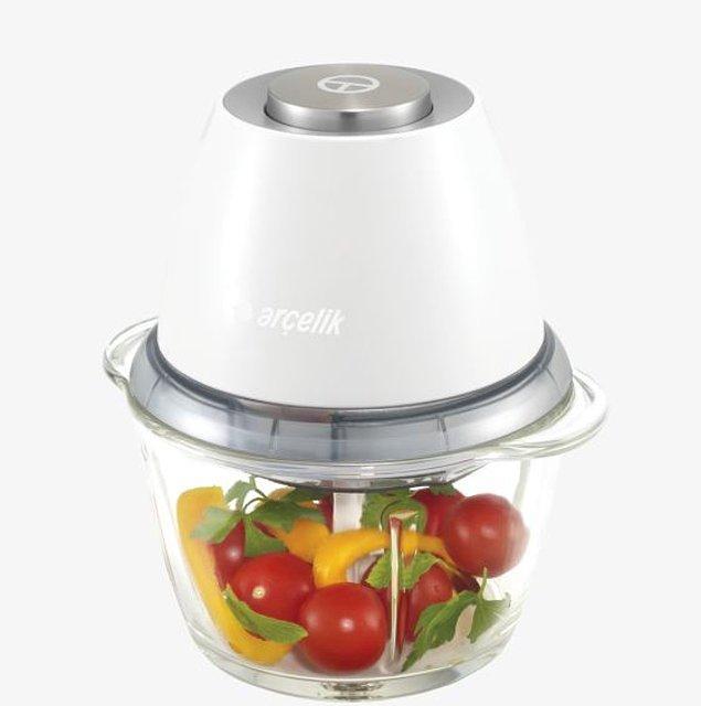 4. Ve yine en taze sebzelerle harika yaz salataları yapmanızda size yardımcı olacak bu doğrayıcı