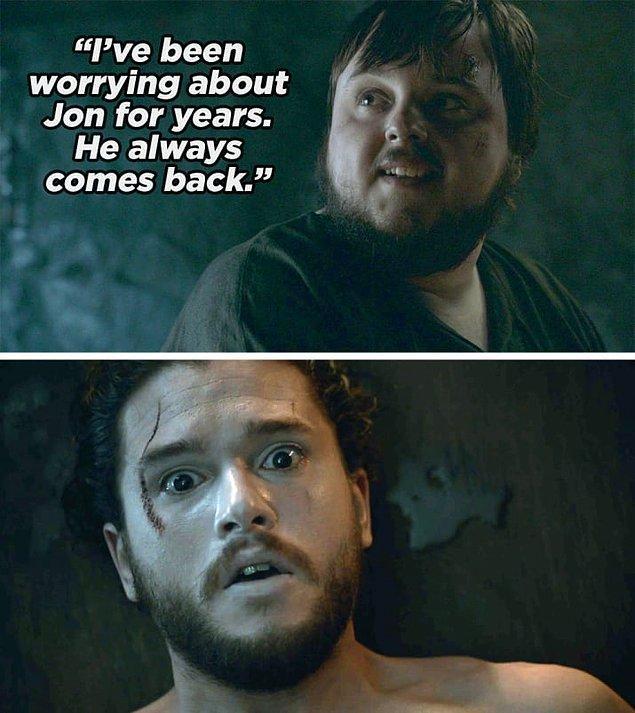 10. Sezon 5'teki Hardhome bölümünde Sam Olly'ye şöyle dedi: