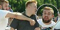 Расплескалась синева: В день ВДВ пьяный мужчина избил журналиста во время прямого эфира