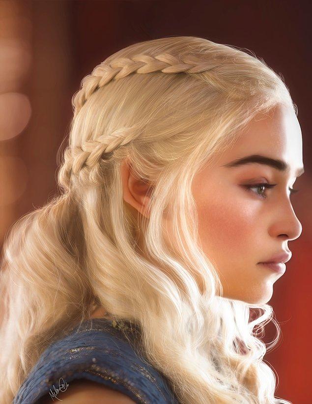 1. Hem dizide hem de kalplerde fırtınalar koparan Daenerys Fırtınadoğan