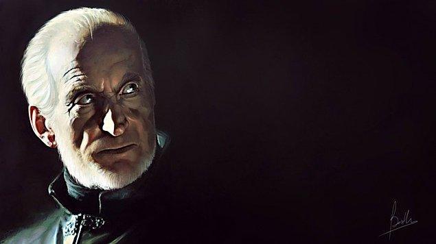 20. Tywin Lannister'dan sonra Lannister hanesi çöküşe geçti. Resimde baktığı ise bomboş bir karanlık.