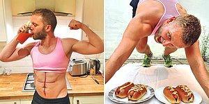 Муж фитнес-блогерши пародирует и троллит свою жену в Instagram