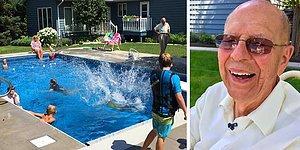 94-летний мужчина построил бассейн для соседских детей в своем саду, чтобы избавиться от одиночества