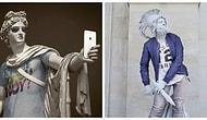 """""""Хипстеры в камне"""" - античные статуи, одетые в современную одежду"""