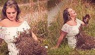 Женщина устроила беременную фотосессию с… пчелами!