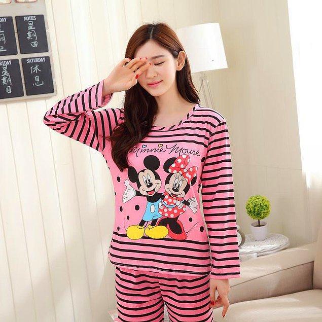 11. Sadece yatmak için ihtiyaç duyulan pijama