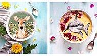 Вкусное искусство: Блогер рисует съедобные картины на модных смузи