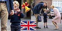 4-летний принц Кембриджский Джордж пошёл в школу! 11 фото с места событий