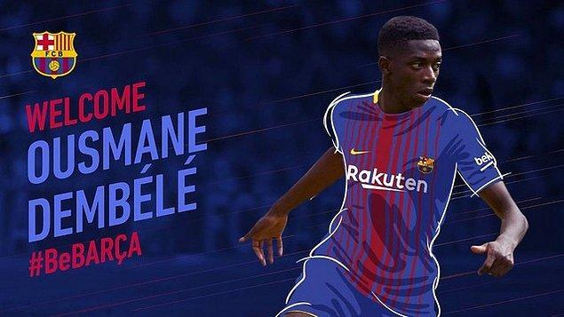 16. Ousmane Dembele ➡️ Barcelona
