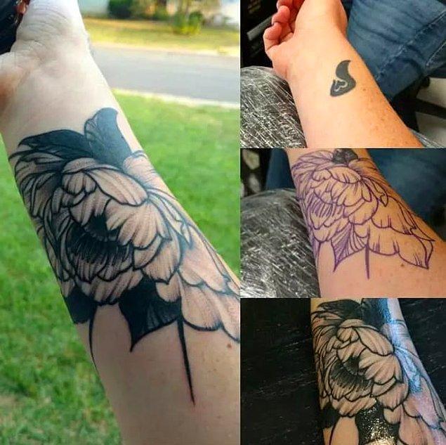 7. Kim demiş çiçek dövmeleri renkli olmalı diye?