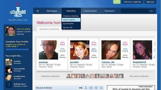 5. Çöpçatanlık sitesi OkCupid'in 2009 istatistiklerine göre, kadınlar erkeklerin %80'ini 'ortalamanın altında' olarak puanlamış.