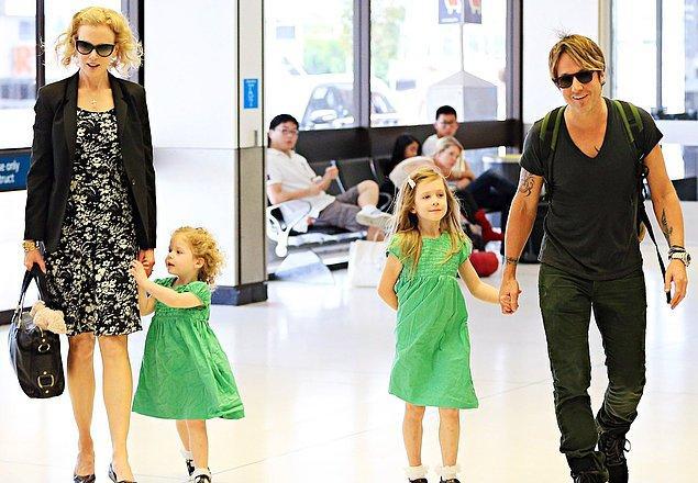 10. Bu evlilikten Sunnie ve Faith adında dünya tatlısı iki kızı olan Kidman'ın çok yoğun bir kariyeri olmasına rağmen örnek bir annelik sergilemeye devam ediyor. 😍