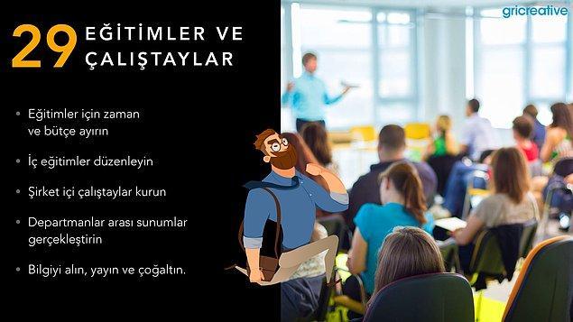 Eğitimler ve Çalıştaylar
