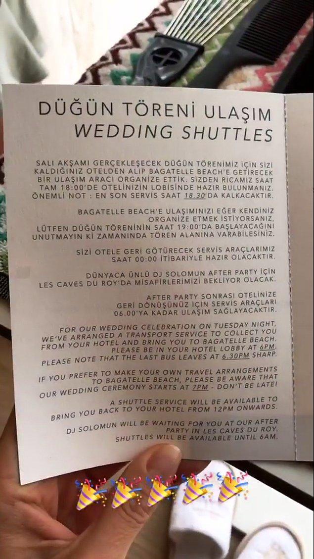 Unutmadan... Düğünün detayları burada!