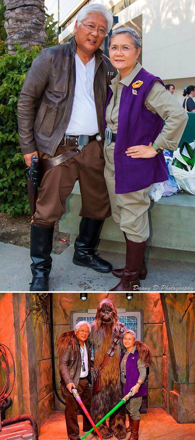 1. Star Wars'tan  Han Solo ve Leia Organa Solo