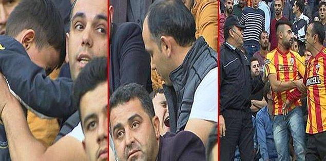Babasıyla birlikte Kayserispor - Fenerbahçe maçını izlemeye gelen 5 yaşındaki çocuk, üzerinde Fenerbahçe forması olduğu için Kayserisporlu bazı taraftarların tepkisini çekti.