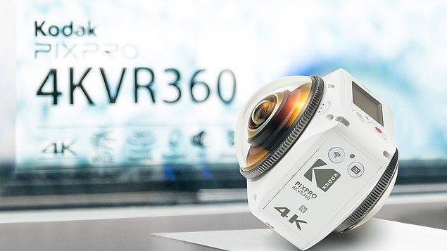 Artık istediğimiz yerden çektiğimiz 360 videolarla her anımızı bir VR videoya çevirebilen yepyeni Kodak Pixpro 4KVR360 Kamera!