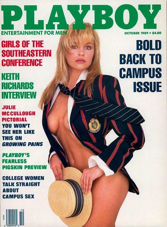 7. 1989: Pamela Anderson, 31 ülkede 151 kapakta yer aldı. 1989-2007 arası ABD'de tam 12 defa.