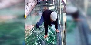 Китайцы-шутники: Эффект трескающегося стекла в конструкции, расположенной на высоте 1180 метров