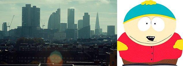 Lensteki parlamayla birlikte fotoğrafta oluşan Eric Cartman