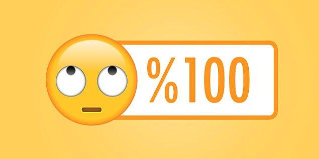 %100 tuhafsın sen %100!