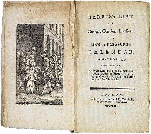 8. 18. yüzyıl Londrası'nda ticari amaçlı basılan bir seks kılavuzu satın alabilirdiniz.