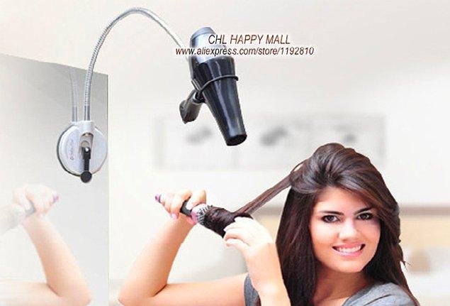 14. Üşengeçler İçin Saç Kurutma Makinesi Tutucu