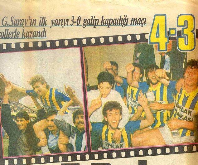 15. 'Fenerbahçe'nin 3-0 mağlubiyetten geri dönüp, 4-3 kazandığı maç'
