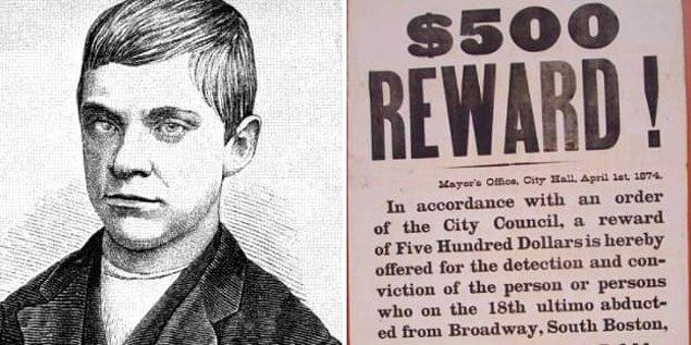 10. Jesse Pomeroy tarafından gerçekleştirilen cinayet, 1874