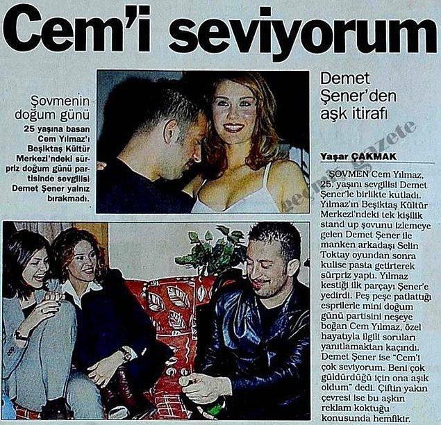 6. Cem Yılmaz ve Demet Şener'in yaşadığı doludizgin aşk
