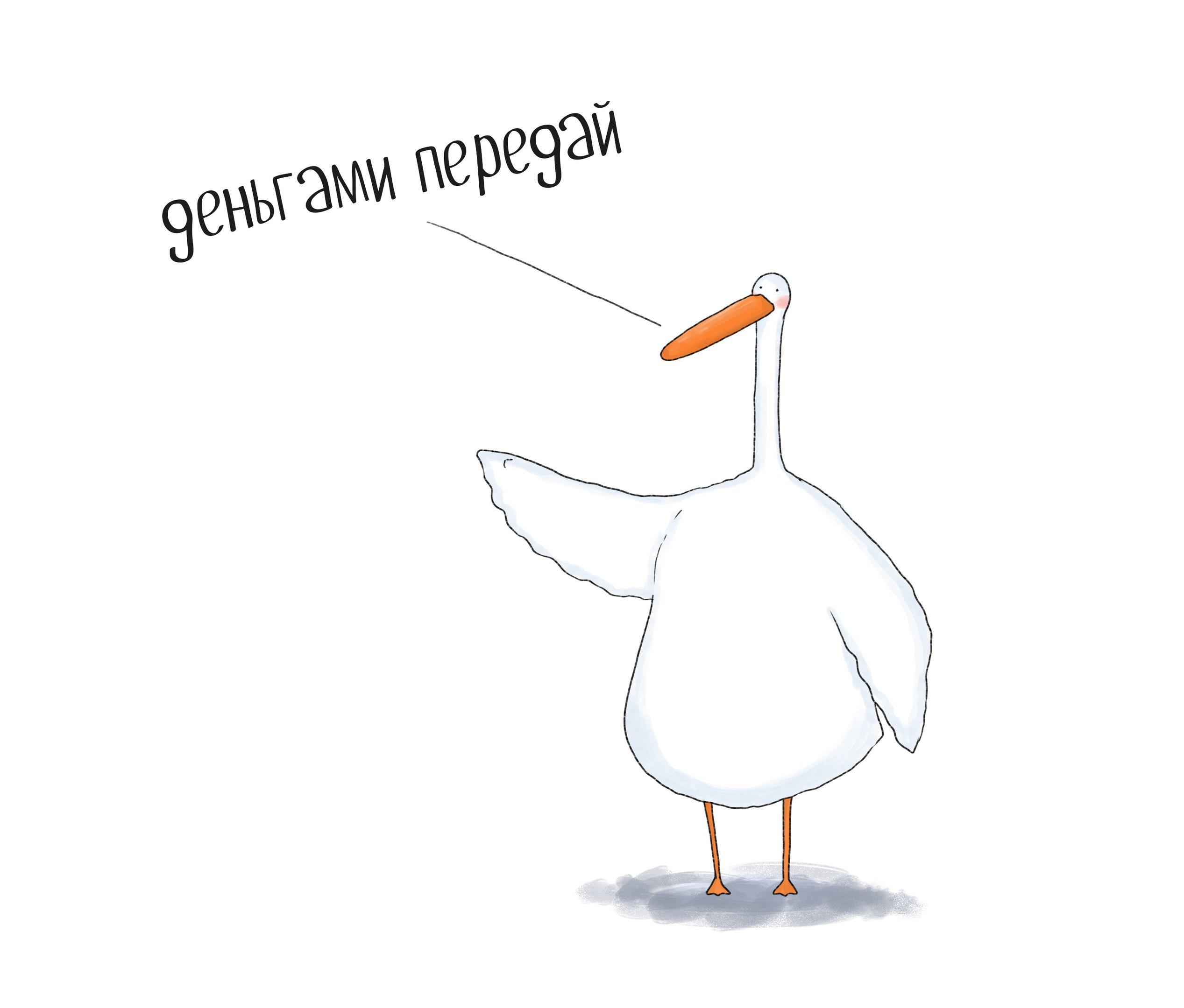 Поздравления мужчине, смешные рисунки гуся