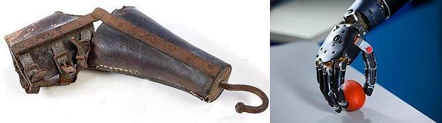 6. Tarihte kullanılmış ilk protez kollardan, günümüzde beyinle kontrol edilebilen teknoloji harikası protezlere.