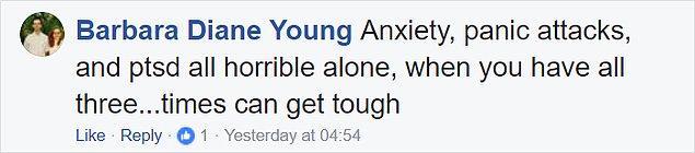 """""""Anksiyete, panik ataklar ve travma sonrası sendromları yalnız başınayken berbat oluyor, üçü de bir anda gelince... hayat bazen çok zor."""""""