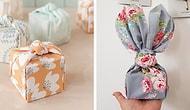 Набирающий популярность новогодний тренд: Подарки, упакованные в обёрточную ткань!