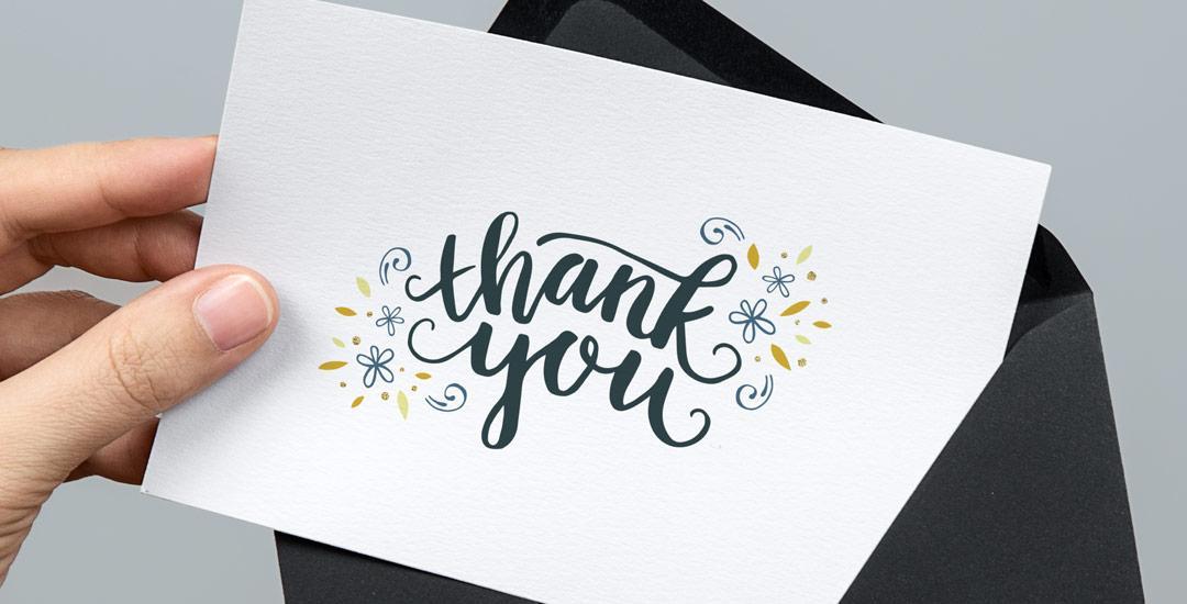 Открытка с благодарностью клиенту, дедушке бабушке
