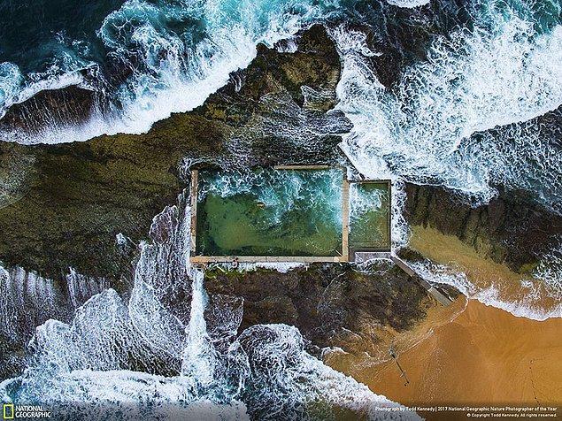 37. Birincilik Ödülü, Havadan görüş: Kaya Havuzu - Todd Kennedy(37/84)