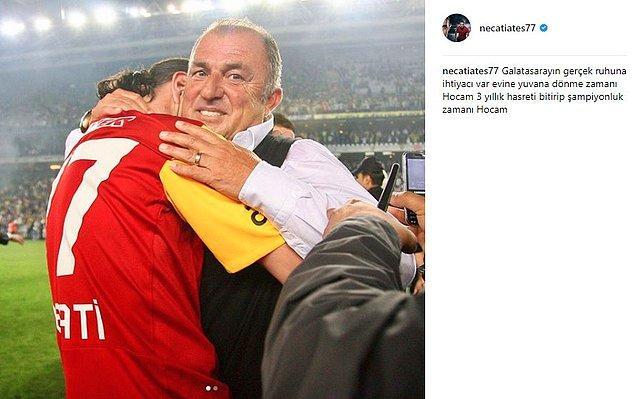 """20. Necati Ateş: """"3 yıllık hasreti bitirip şampiyon olma zamanı Hocam"""""""