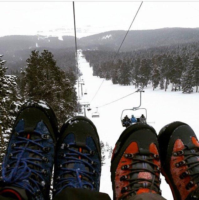 Sarıkamış'ta kayak keyfi bir başka…