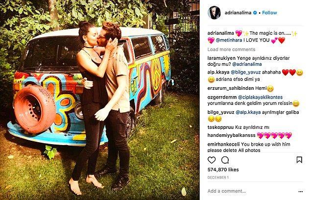 İşte böyle böyle tam altı ayı doldurdular. Adriana'nın bu aşk dolu gönderisi bundan tam yirmi gün önce yayınlandı.
